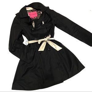 Betsey Johnson Double Breasted Scallop Trench Coat